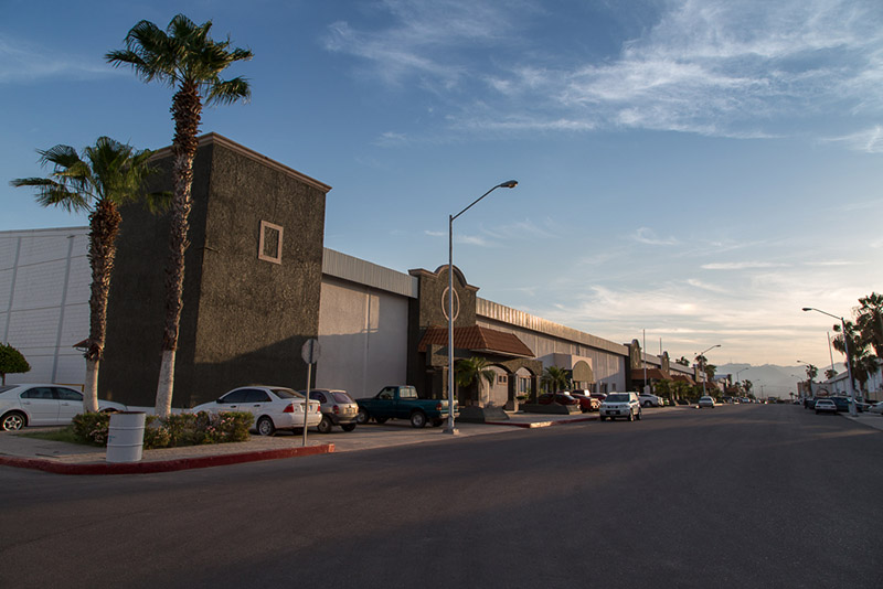 Curbside View of the Bella Vista Manufacturing Community in Empalme, Sonora, Mexico