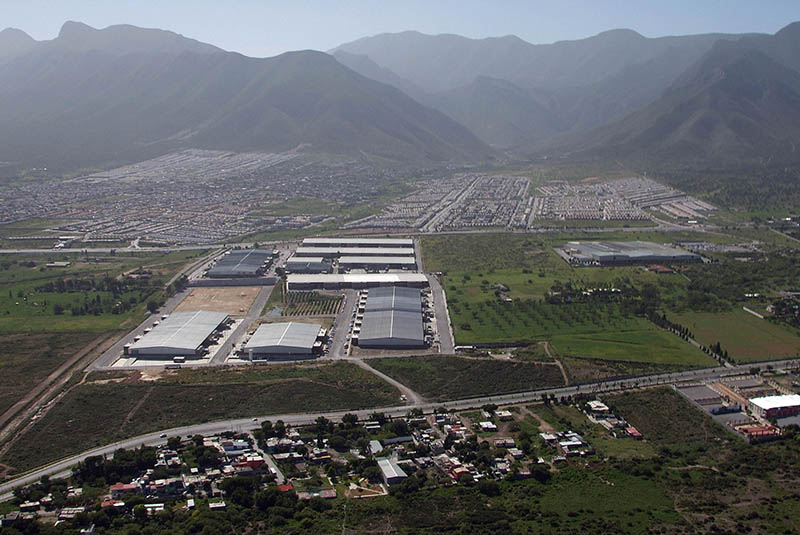 Aerial View of Manufacturing Facilities in Saltillo, Coahuila, Mexico