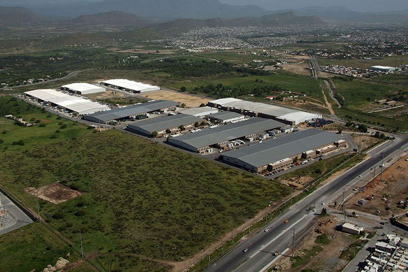 Aerial View of La Angostura Industrial Park in Saltillo