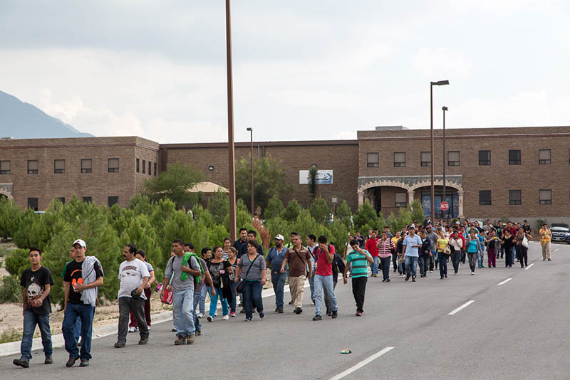 Manufacturing Workers in Saltillo, Mexico walking within the La Angostura Manufacturing Community