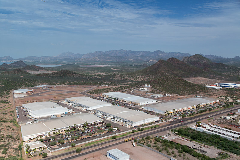 Aerial View of the Roca Fuerte Manufacturing Community in Guaymas