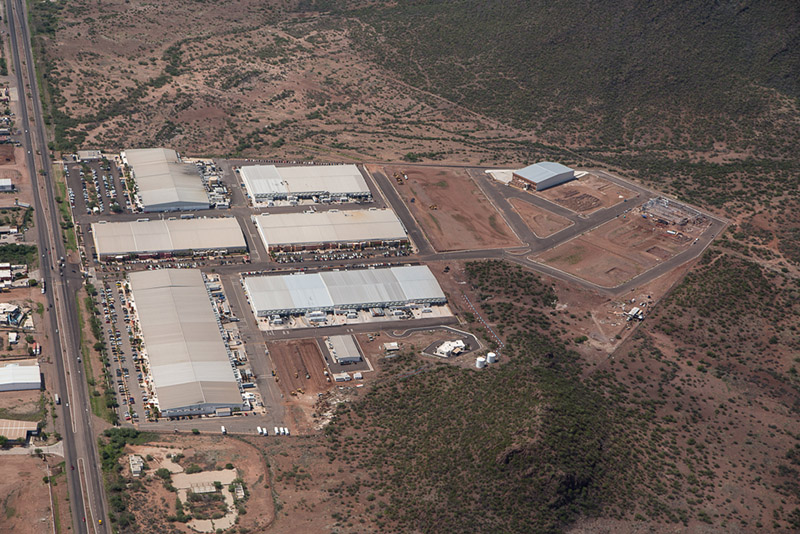 Aerial view of The Offshore Group's Industrial Park in Guaymas