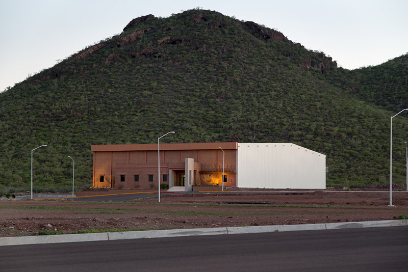Manufacturing building at the roca fuerte manufacturing park in Guaymas, Mexico
