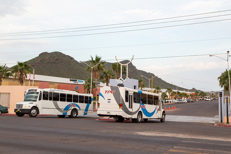 Employee Busing in Guaymas, Sonora